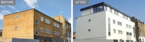 Apex's completed airspace scheme at Wilmott Place, Camden